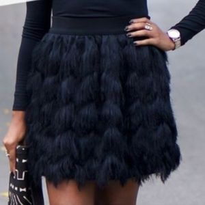 Banana Republic Fringe Mini Skirt